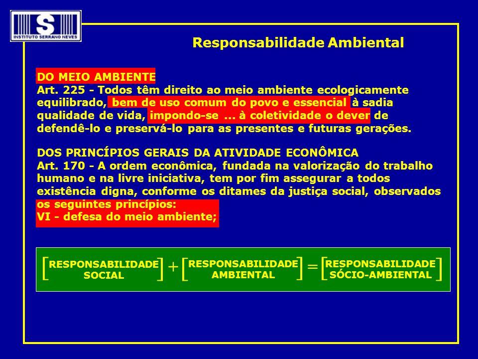 [ ] + = Responsabilidade Ambiental DO MEIO AMBIENTE